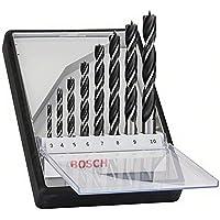 Bosch Professional 2607010533 Robust Line Spiralborrsats i trä, Grå, 3.0 - 10.0, Paket med 8
