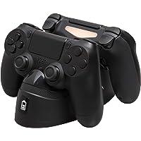HyperX Chargeplay Duo - Estación de Carga para controles Playstation 4 - Carga dos DUALSHOCK 4 a través del Puerto Externo. Sony PS4/Pro/PS4 Slim DUALSHOCK 4 - (HX-CPDU-A)