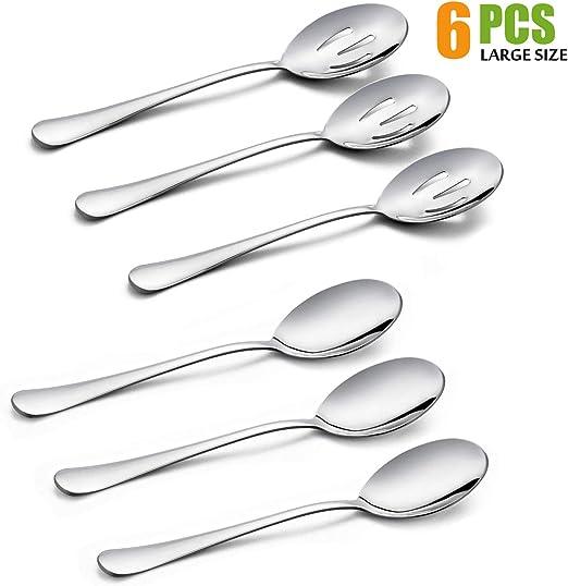 Stainless Steel Spoon Kitchen Seasoning Spoon Small 6Pcs Gauge Spoon Set/_#