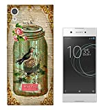 "000541 - Vintage Shabby Chic Victorian Bird Nest Floral Roses Design Sony Xperia XA1 Ultra 6"" CASE Gel Silicone All Edges Protection Case Cover"