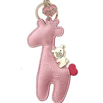 Milesi® marca 100% funda de piel bolso de jirafa encanto ...