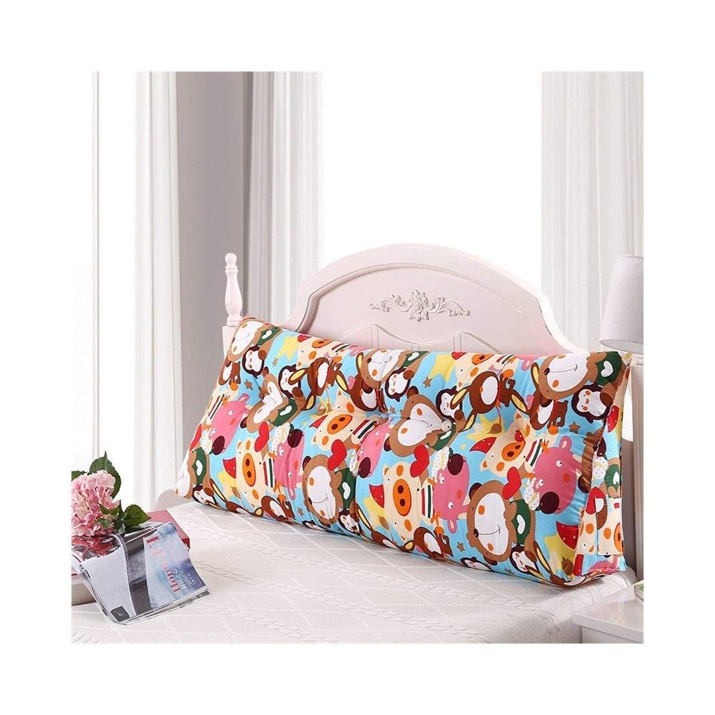 XXCushion King Size Bed Backrest Cotton Canvas Jacket PP Cotton Core Mobile Phone Remote Control Storage Bag POUN (Size : 1.5m) by XXCushion