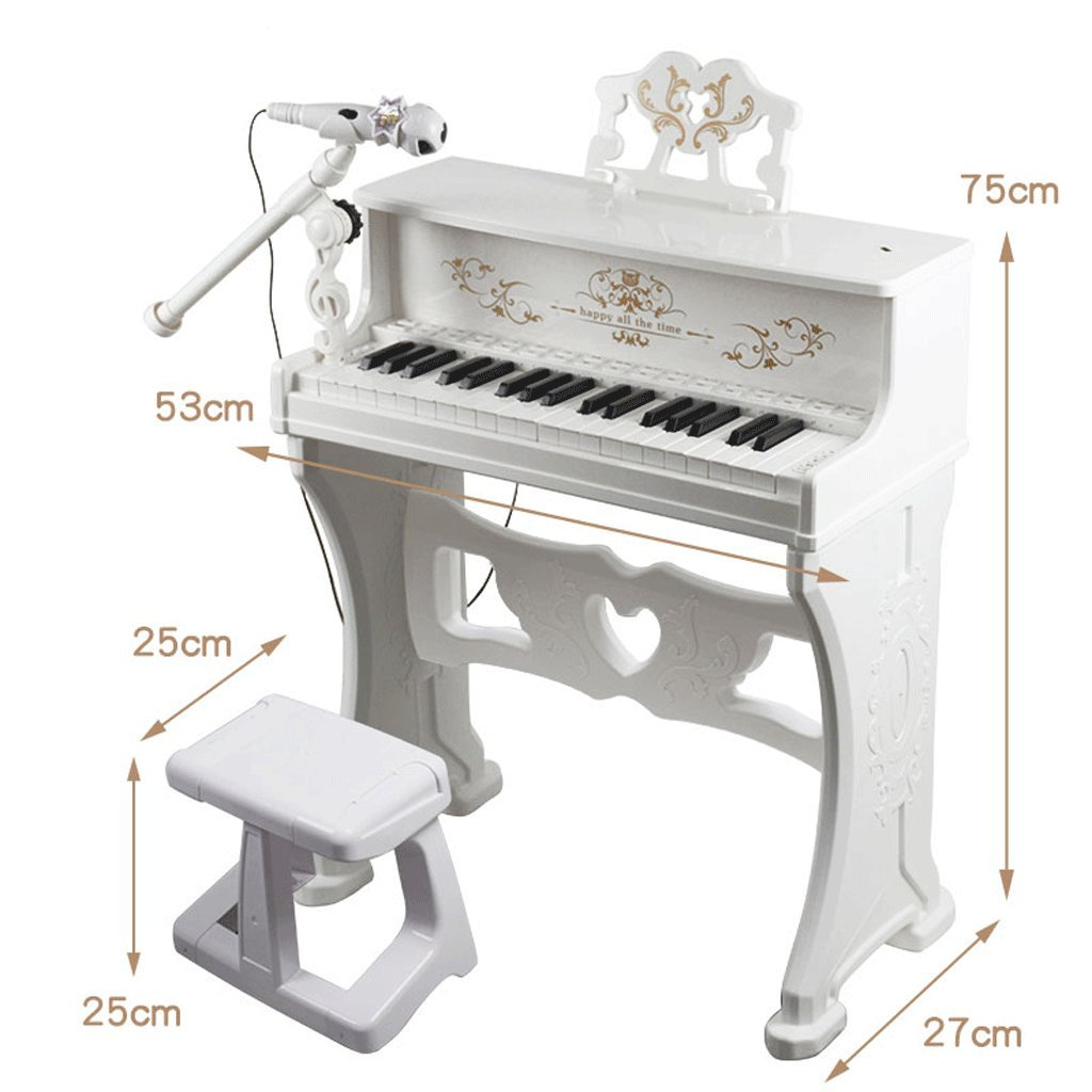 DUWEN Keyboard Children's Keyboard Toy Girl Child Small Piano Beginner Music Early Childhood Music Instrument With Microphone (Color : Purple)