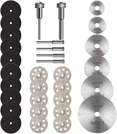 36pcs Resin Cutting Wheel Disc Cut Off Set Bit Kit Compatible for Dremel Rotary Tool Dremel Accessories