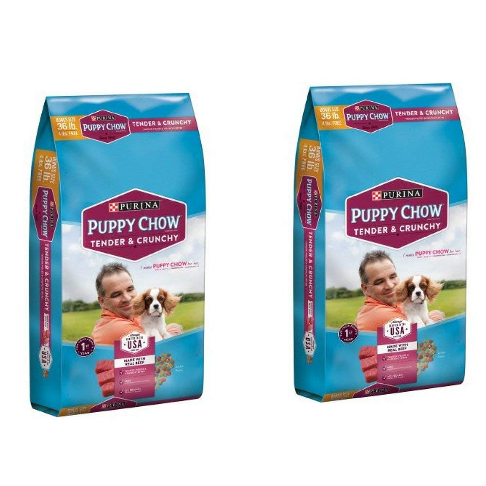 Purina Puppy Chow Tender and Crunchy Dog Food Bonus Size 36 lb. Bag