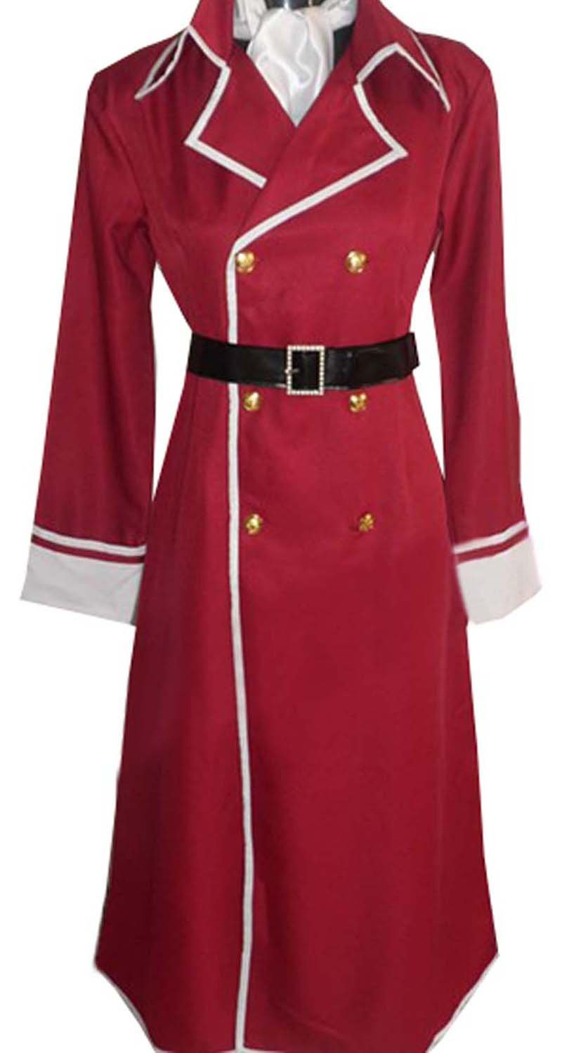 Dreamcosplay Anime Fairy Tail Freed Justine Red Uniform Cosplay Costume