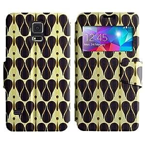 LEOCASE gotas lindas Funda Carcasa Cuero Tapa Case Para Samsung Galaxy S5 I9600 No.1002619