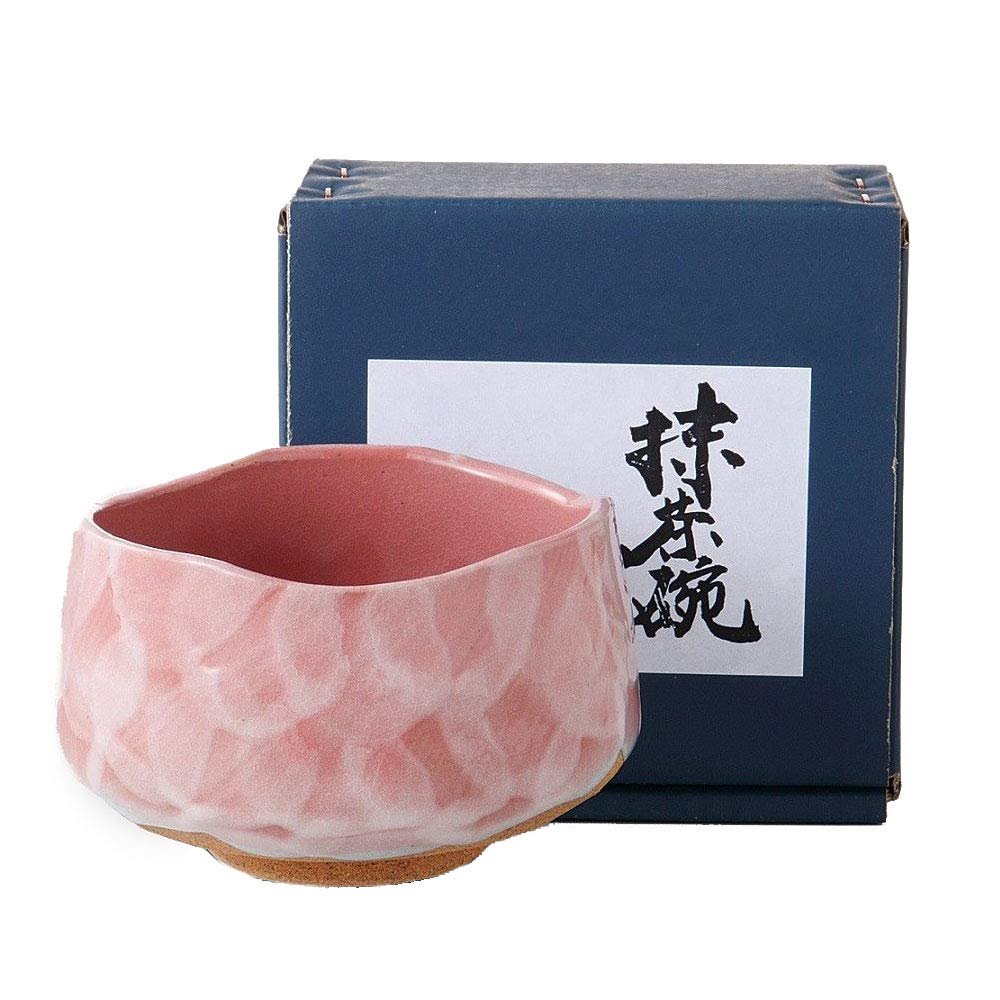Pink Kohiki Style Matcha Bowl Ochawan by Alenet Traditional Ceramics Made in Japan