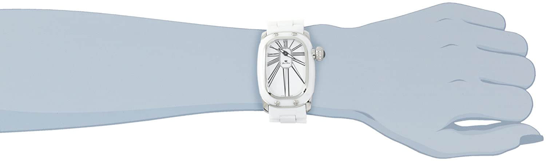 Glam Rock Women s GR72011 Monogram White Enamel Dial White Ceramic Watch