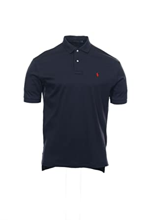 Polo Ralph Lauren Mens Classic Fit Interlock Polo Shirt (Small, River Navy)