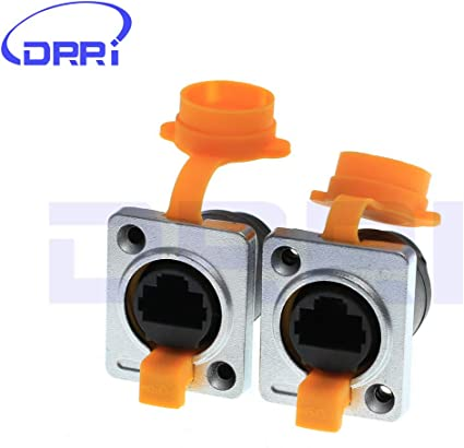 RJ45 waterproof connector plugs and sockets,metal round Ethernet connector