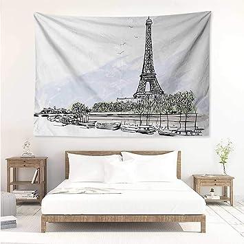 Amazon Com Paris Wall Decor Tapestry Architecture Theme