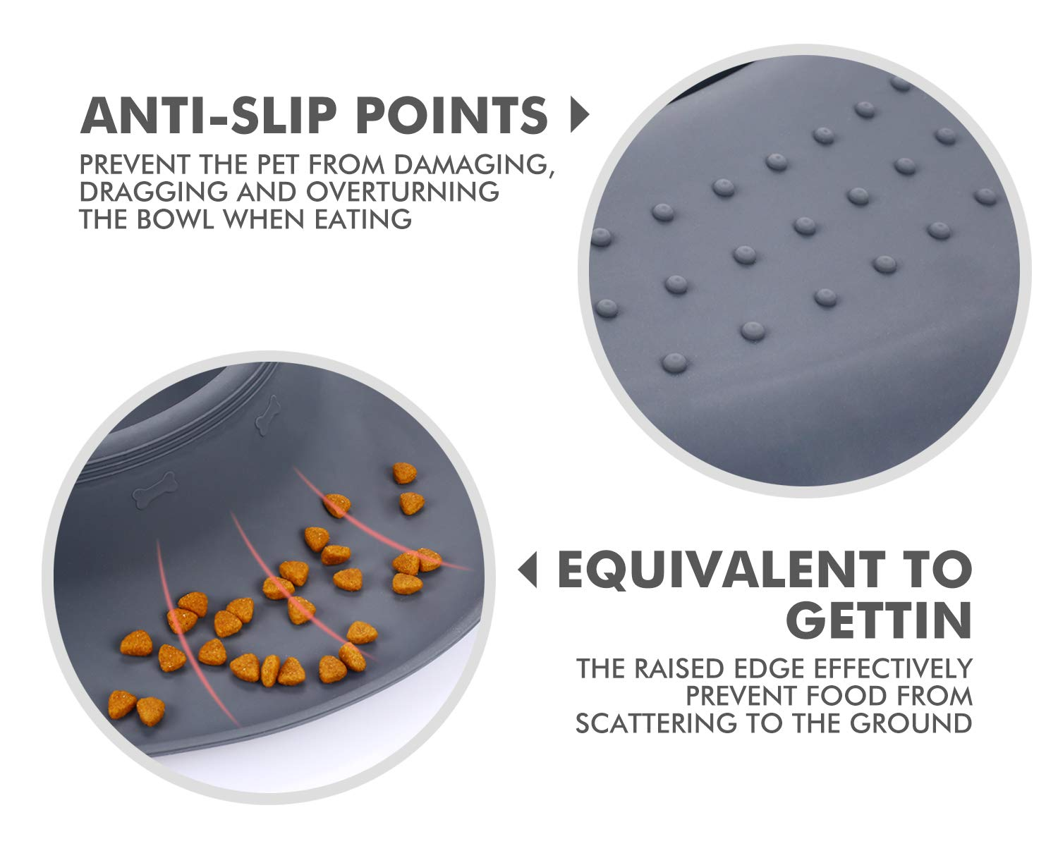 Safe Silicone Interactive Fun Slow Feeders for Dogs Stainless Steel Bowls Non Spill Mats Tray Great for Small Medium Dogs Cats Slow Feeding Pecute 3-in-1 Slow Eating Dog Bowls with Non Slip Mat