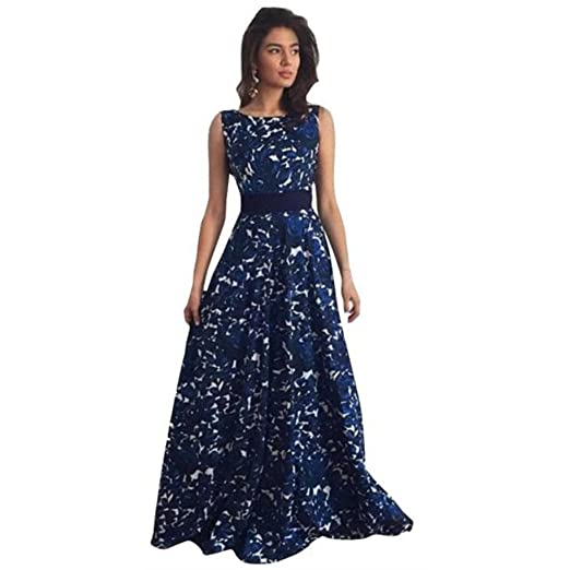 907365d0946 Amazon.com  FUNIC Women Floral Long Formal Prom Dress