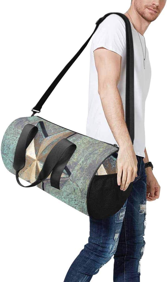 INTERESTPRINT Golden Star Duffel Overnight Weekend Bag Travel Duffel Bag