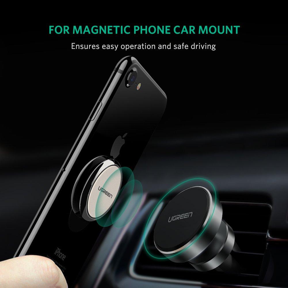 UGREEN Anillo Soporte Gancho Teléfono Móvil Tablet Aro Anti-Caída Sostenedor Terminal para iPhone X/ 8Plus/ 8/ 7plus/ 7, Samsung S8+/ S7 Edge/Note 8, ...
