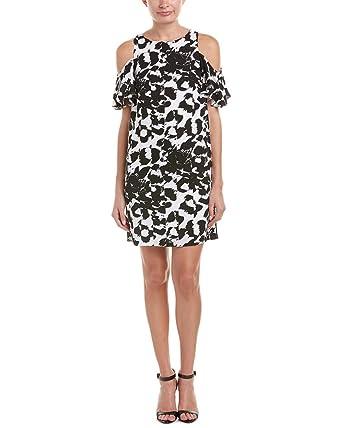 51ed661c230 Julia Jordan Women s Ruffle Cold Shoulder Printed Shift Dress at Amazon  Women s Clothing store