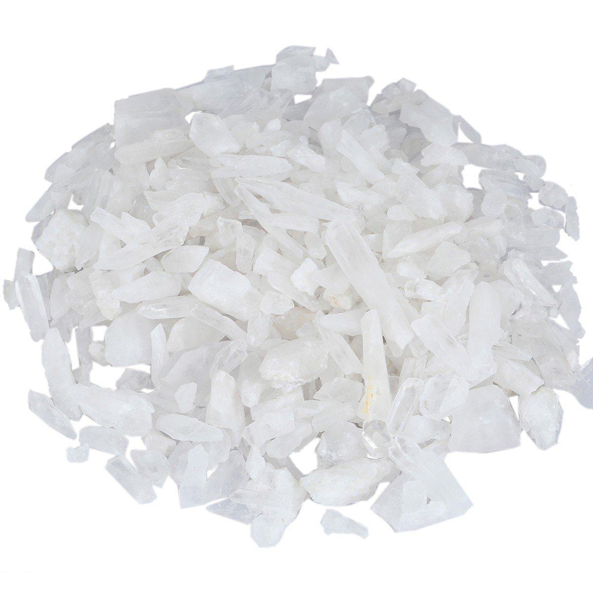 rockcloud 1/2 lb Irregular Raw Natural Rock Quartz Stone Chips Crystal Specimen
