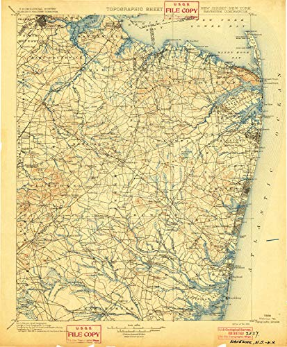 YellowMaps Navesink NJ topo map, 1:125000 Scale, 30, used for sale  Delivered anywhere in USA