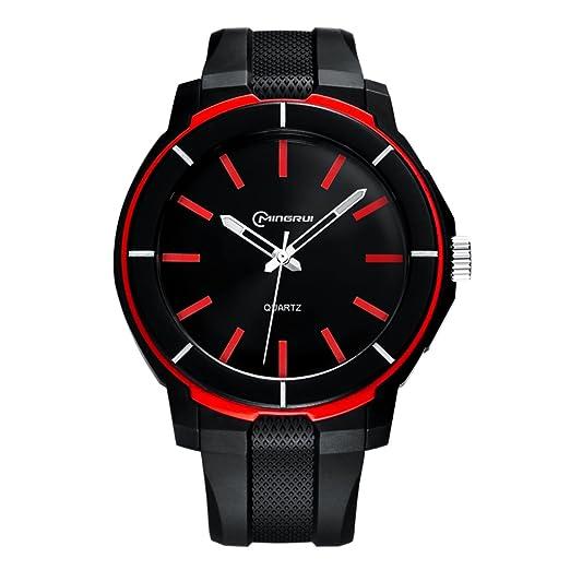 Hombre Relojes digitales,Reloj de cuarzo de adolescentes Impermeable Chico Watch Correa con hebilla pasador-D: Amazon.es: Relojes
