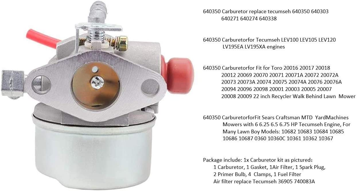 Trustsheer 640350 640271 640303 Carburetor for Tecumseh LEV100 ...