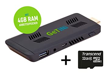Mini PC HDMI Stick de TV con Full HD, WiFi y Bluetooth + 32 GB SD ...