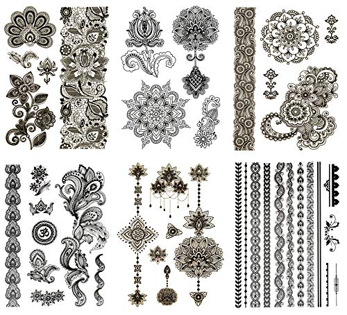Terra Tattoos Temporary Tattoos - 50 Henna Style Tats