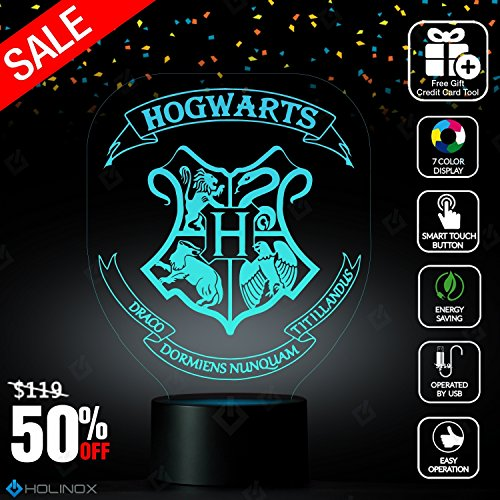 Harry Potter Hogwarts Lighting Decor Gadget Lamp + Sticker Decor for Perfect Set, Awesome Gift - Make To Harry Potter Easy Costumes