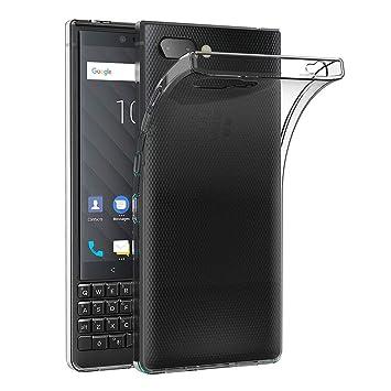 2e1d3c799e6 AICEK Funda Blackberry Key2, Transparente Silicona Fundas para Blackberry  Key2 Carcasa Silicona Funda Case (4,5 Pulgadas): Amazon.es: Electrónica