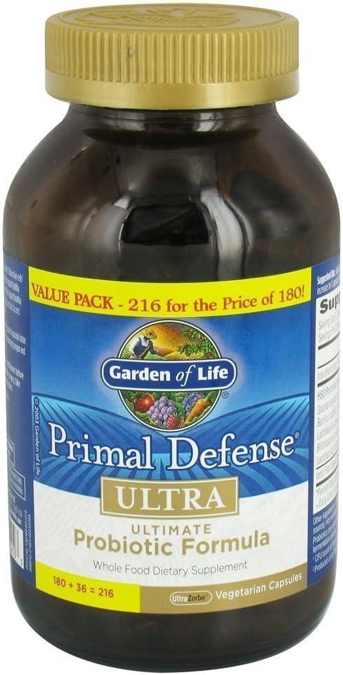 Garden of Life Primal Defense Ultra Ultimate Probiotics Formula (216 Count Bottle)