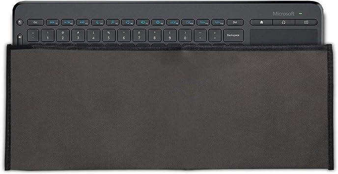 kwmobile Funda Protectora para Teclado Microsoft All-in-One Media Keyboard - Cubierta para el Polvo o derrames en Gris Oscuro