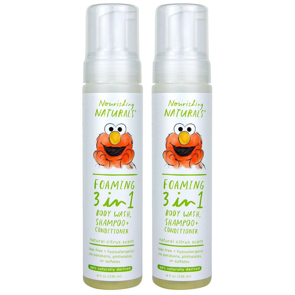 Sesame Street Nourishing Naturals, 3-in-1 Shampoo Conditioner & Body Wash, 8 oz, Pack of 2