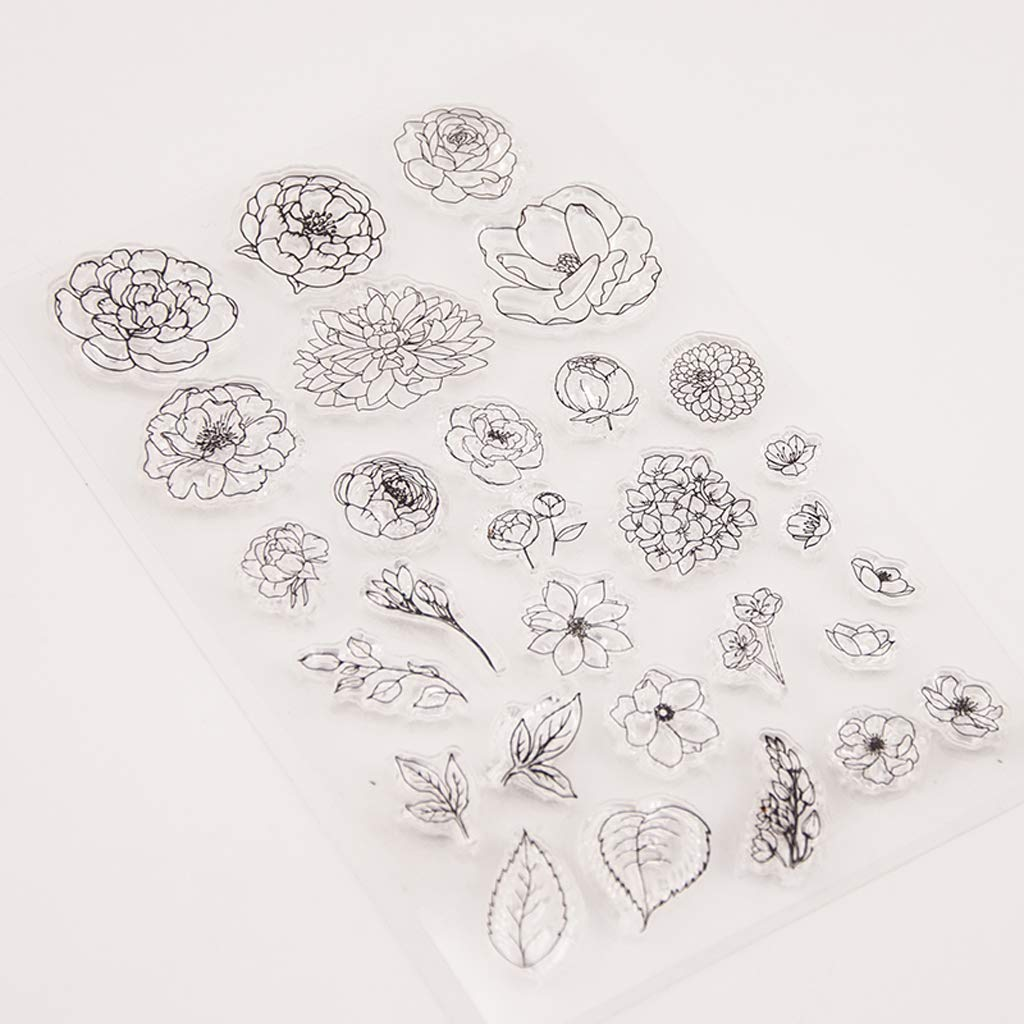 cicikiki Flower Silicone Clear Seal Stamp DIY Scrapbooking Embossing Photo Album Decorative Paper Card Craft Craft Art Handmade Gift