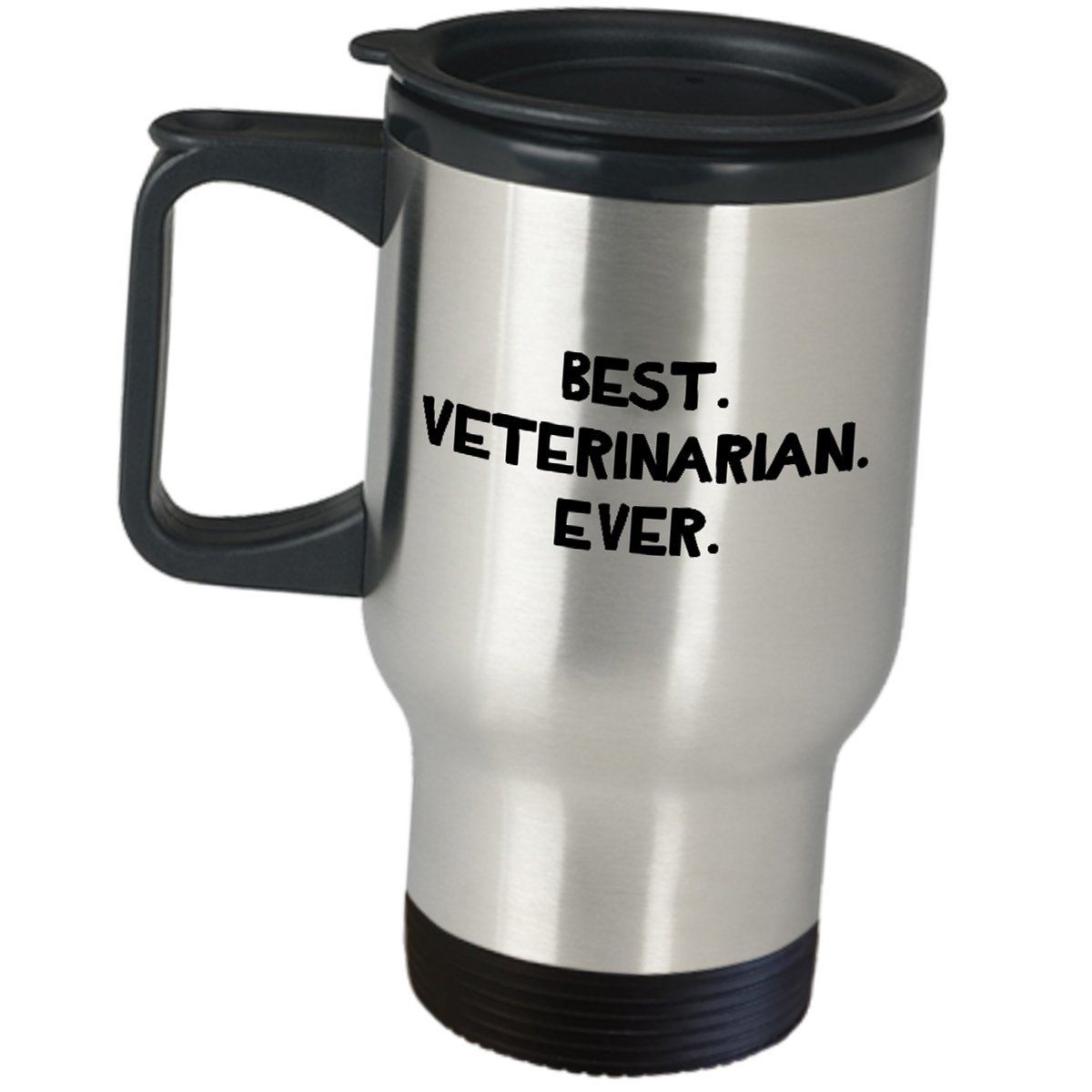 Vet Coffee Tumbler Funny Gifts - Best Veterinarian Ever Travel Mug - Doctor of Veterinary Medicine Pet Dog Cat Animal Physiology Graduation Cute Gag Gift