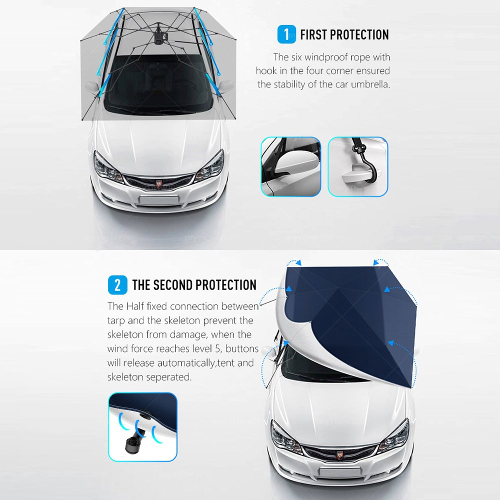 Artpixel Car Tent Automatic Folded Remote Control Garage Wiring Diagram 2017 2018 Best Cars Reviews Portable Auto Protection Umbrella Shelter Hood The Second Generation Automotive