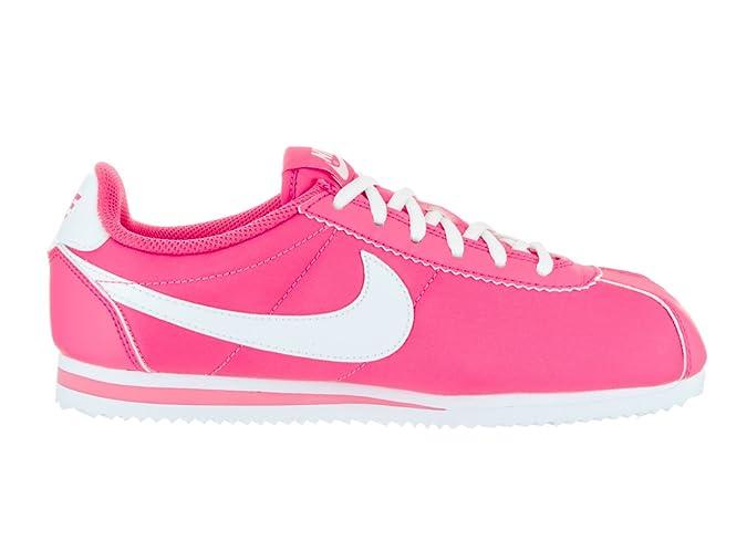| nike enfants cortez nylon (gs) hyper hyper hyper - rose / blanc décontracté 14b19c