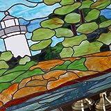 Bieye W10010 Seaside Scenery Tiffany Style Stained