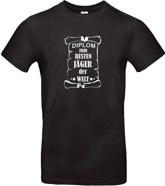 Shirtstown Camiseta De Hombres DIPLOM para Mejor Cazador del Mundo: Amazon.es: Ropa y accesorios