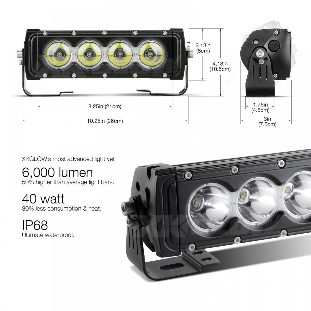 Razor Pro 18.5in 80W LED Light Bar Spot//Flood Combo 12,000 Lumens CREE LED Super Duty Offroad Work Light XKGLOW