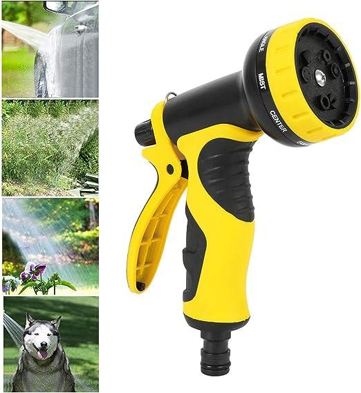 JTWEB Pistola de Agua de Jardín de Riego Rociador de Mano de Alta Presión para Jardinería para Lavado de Coches, Baño de Mascotas: Amazon.es: Jardín