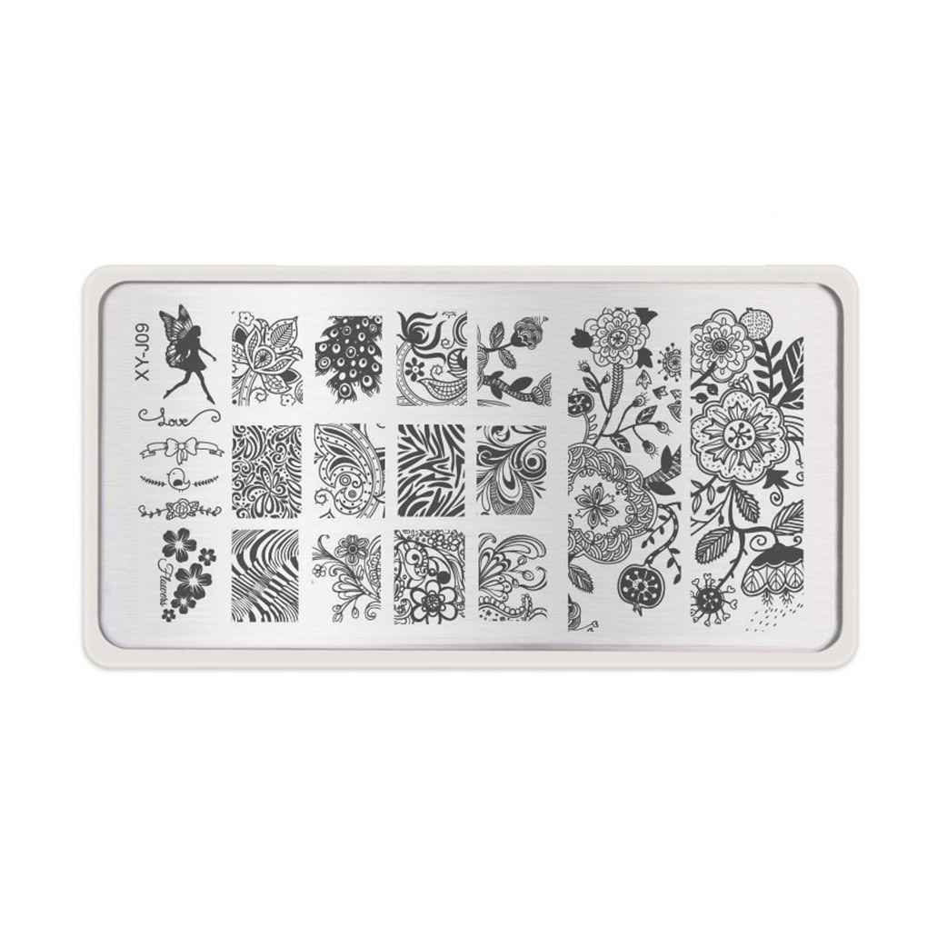 Coco 1pc Nail Stencils Nails Art Stamp Templates Plates for Gel Nail Polish Manicure Image Plate
