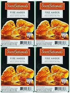 ScentSationals Fire Amber Wax Cubes - 4-Pack