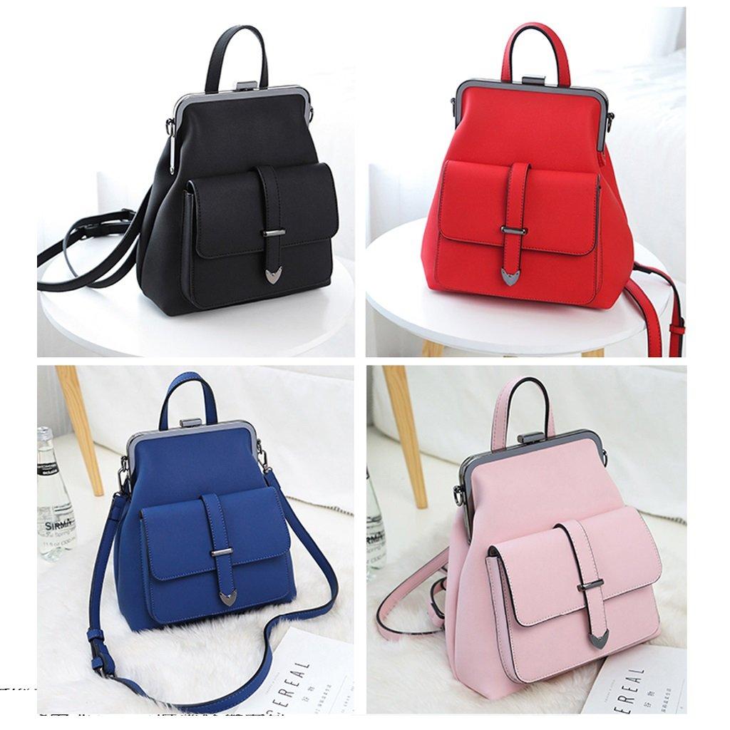 MingXiaYuan La nueva tendencia de las señoras casuales Messenger mochila, elegante mini mochila de viaje, antirrobo multi-funcional estudiantes de secundaria bolso simple (Color : Azul)