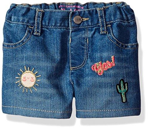 The Children's Place Baby Girls' Denim Shorts, Medium Denim 82105, - Jean Waist Shorts Adjustable