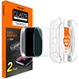 Spigen Fitbit Versa/Fitbit Versa Lite/Versa Special Edition GLAStR EZ FIT 2 Pack Tempered Glass Screen Protector with easy install tray