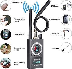 Anti Spy Detector,Wireless Bug Detector Signal for Hidden Camera Laser Lens GSM Listening Device Finder Radar Radio Scanner Wireless Signal Alarm