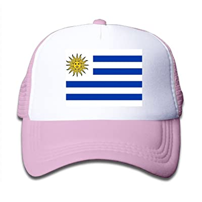 Futong Huaxia Uruguay Flag Boy Girl Grid Baseball Caps Adjustable Sunshade Hat For Children