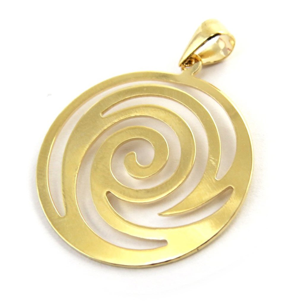 Pendant plated gold Choregraphie golden.