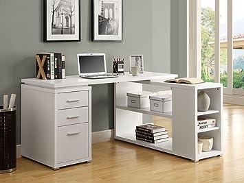 monarch specialties hollowcore left or right facing corner desk white