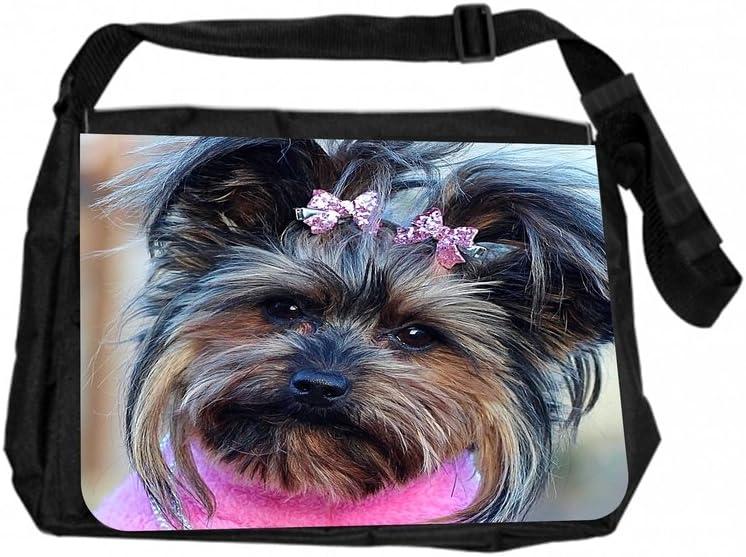 TM Laptop Messenger Bag Yorkie in Pink Rosie Parker Inc